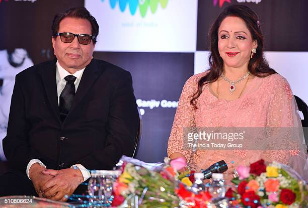 Dharmendra during the launch of Hema Malini's new album Dream Girl in Mumbai