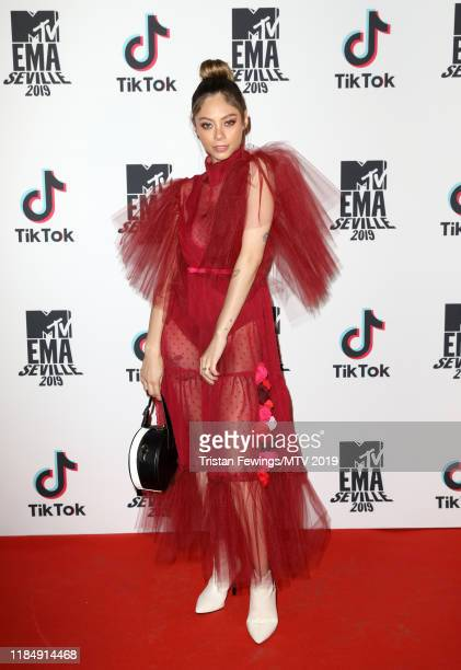 Dhasia Wezka attends the MTV and Tik Tok Present Taste of Seville MTV EMA Pre Party at Casa De Salinas on November 01 2019 in Seville Spain