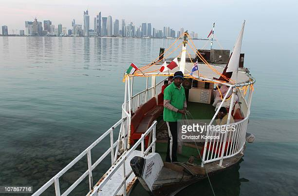 A dhau boat is seen in the harbour of the West Bay area on January 4 2011 in Doha Qatar The International Monetary Fund recently reiterated its...