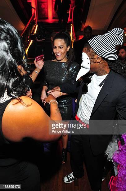 Dhea Sodano and Dewayne Lil Wayne Carter attend Reginae Carter's 13th Birthday party at The Callanwolde Mansion on November 19 2011 in Atlanta Georgia