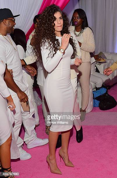 Dhea Sodano attends Reginea's All White Sweet 16 birthday party at Summerour Studio on November 29 2014 in Atlanta Georgia