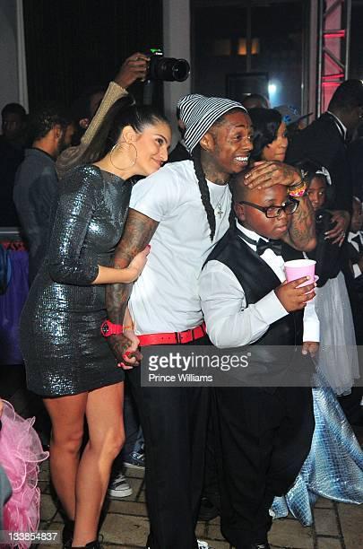 Dhea Sodano Lil Wayne and Semaj Carter attend Reginae Carter's 13th Birthday party at The Callanwolde Mansion on November 19 2011 in Atlanta Georgia