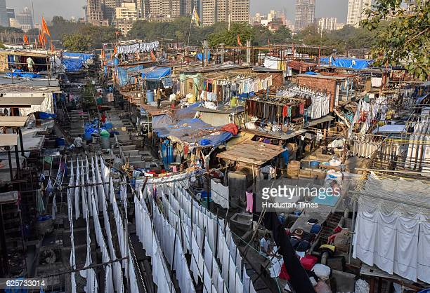 Dhobi Ghat a 12acre prime land overlooking Arabian Sea and Mahalaxmi Race Course is all set for revamp on November 24 2016 in Mumbai India Total 5000...