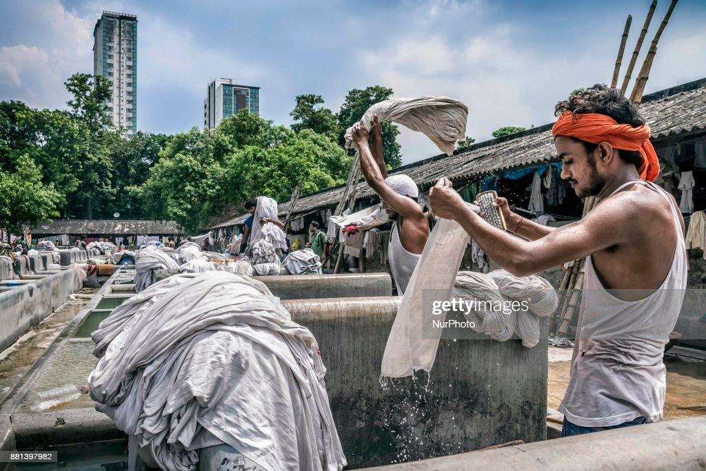 Dhobi Ghat in Kolkata : News Photo