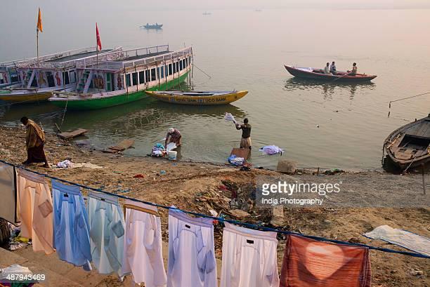 Dhobi Ghat in Varanasi, India