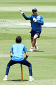 sydney australia ms dhoni fields during