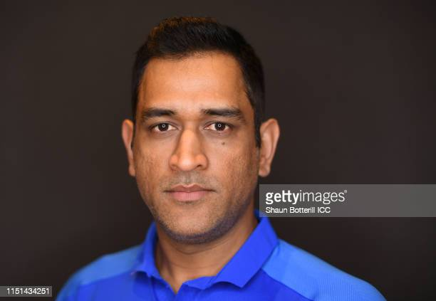Dhoni of India poses for a portrait prior to the ICC Cricket World Cup 2019 at the Plaza Hotel on May 24 2019 in London England