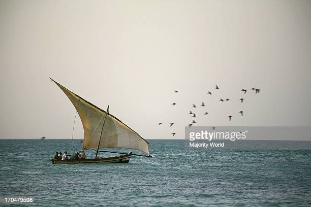 dhow at sea traditional sailing boat Ibo Island Quirimbas archipelago Mozambique