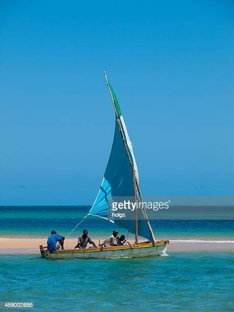dhow at the bazaruto archipelago, mozambique - archipelago stock pictures, royalty-free photos & images