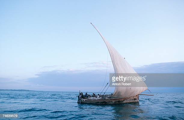 Dhow Boat in Full Sail