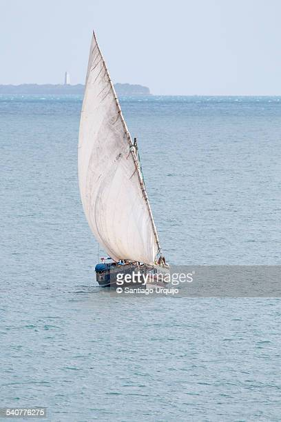 Dhow entering the harbor of Stone Town