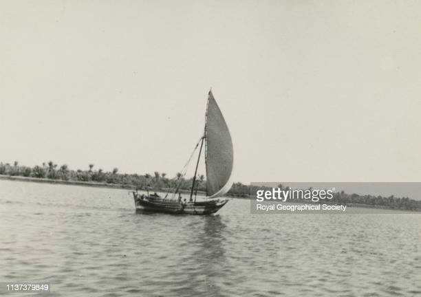 Dhow from Colonel Wand's house at Basra, Iraq. Artist George Rendel.