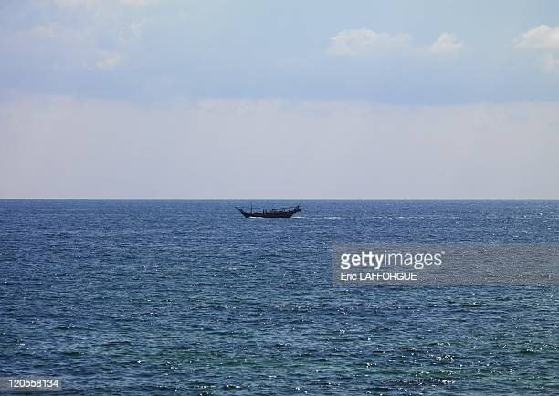 Dhow In Masirah island Oman on December 18 2009 Since time immemorial Oman has been a seafaring nation In fact as far back as the 8th century an...