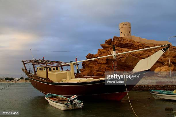 A dhow (traditional boat) in Sur, Oman