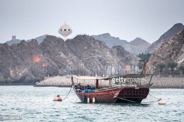 dhow  n muscat, oman - muscat governorate stock pictures, royalty-free photos & images