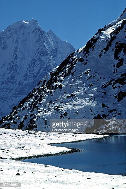 Dhud Pokhari With Thamserku Peak In The Background Gokyo Khumbu District Nepal