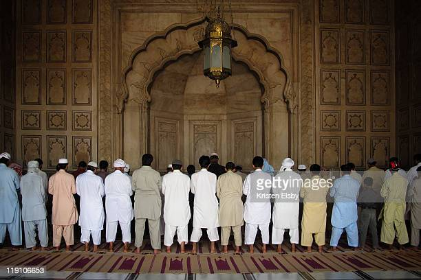 Dhuhr prayers at Badshahi Mosque