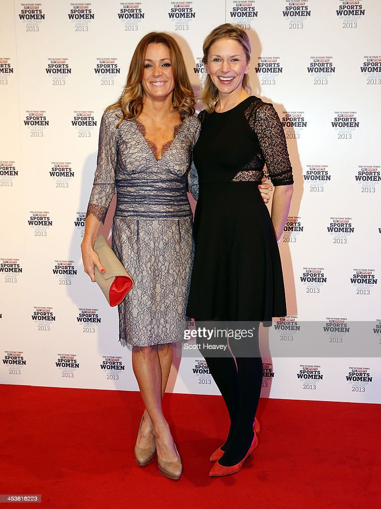 Di Dougherty (R) and Natalie Pinkham attend The Sunday Times & Sky Sports Sportswomen of the Year awards at Sky on December 5, 2013 in Isleworth, England.