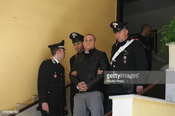 Di Martino Domenico, one of the four members of Bidogetti Group, the notorious clan of the Camorra arrested by the Carabinieri company for extorting...