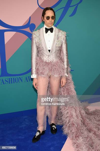 Di Mondo attends the 2017 CFDA Fashion Awards at Hammerstein Ballroom on June 5 2017 in New York City