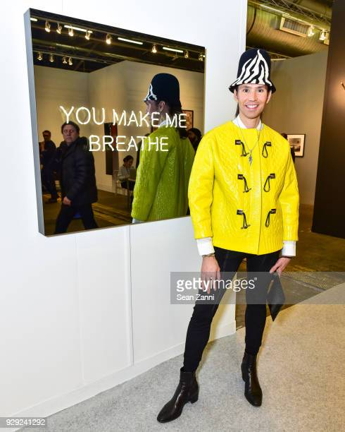 Di Mondo attends The Armory Show 2018 Vernissage at Pier 92 94 on March 7 2018 in New York City