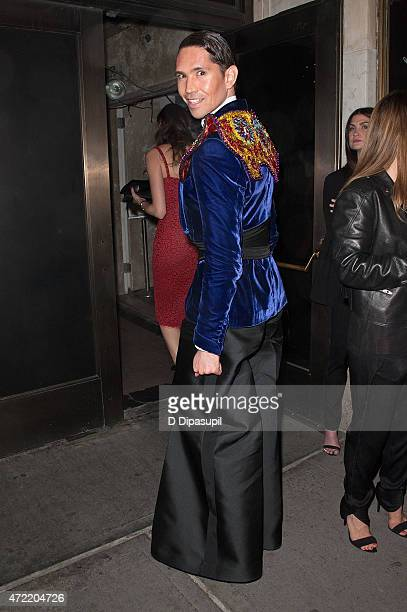 Di Mondo is seen arriving at the Diamond Horseshoe on May 4 2015 in New York City