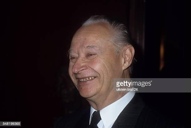 Dia Alexander Dubcek * Politiker Tschechoslowakei Parlamentspräsident Portrait 1991