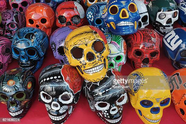 dia de los muertos oakland 2016 - day of the dead festival stock photos and pictures