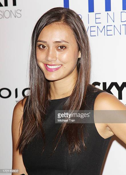 Dia Frampton arrives at the Friend Movement Campaign benefit concert held at El Rey Theatre on July 1 2013 in Los Angeles California