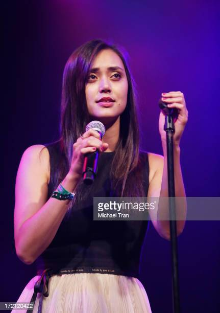Dia Frampton performs at the Friend Movement Campaign benefit concert held at El Rey Theatre on July 1 2013 in Los Angeles California