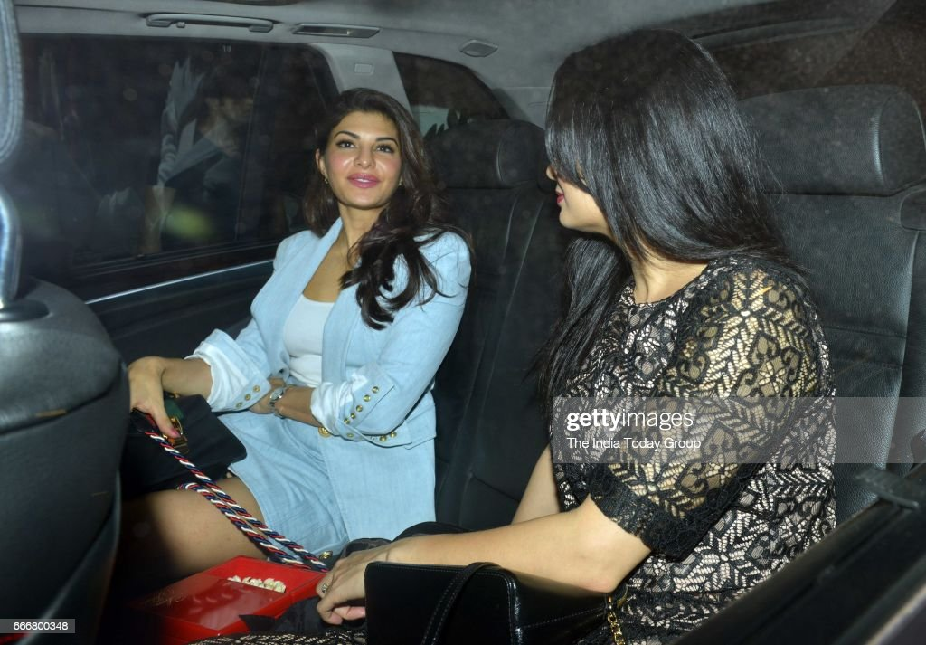 Dia Mirza and Jacqueline Fernandez at Karan Johar`s party in Mumbai