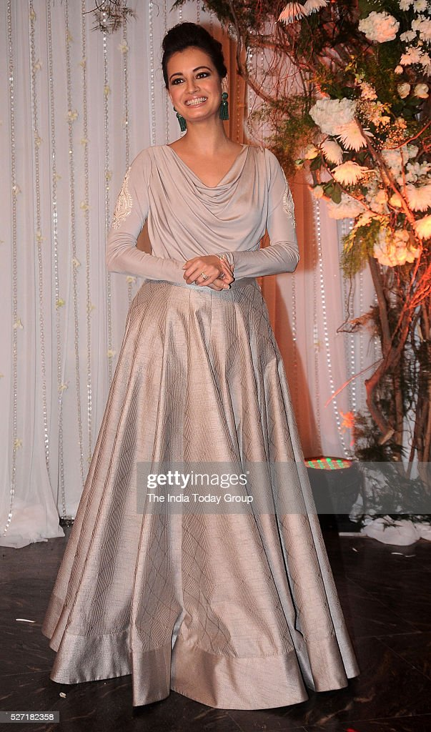 Dia Mirza at Bipasha Basu and Karan Singh Grovers wedding reception ceremony at St Regis Hotel in Mumbai