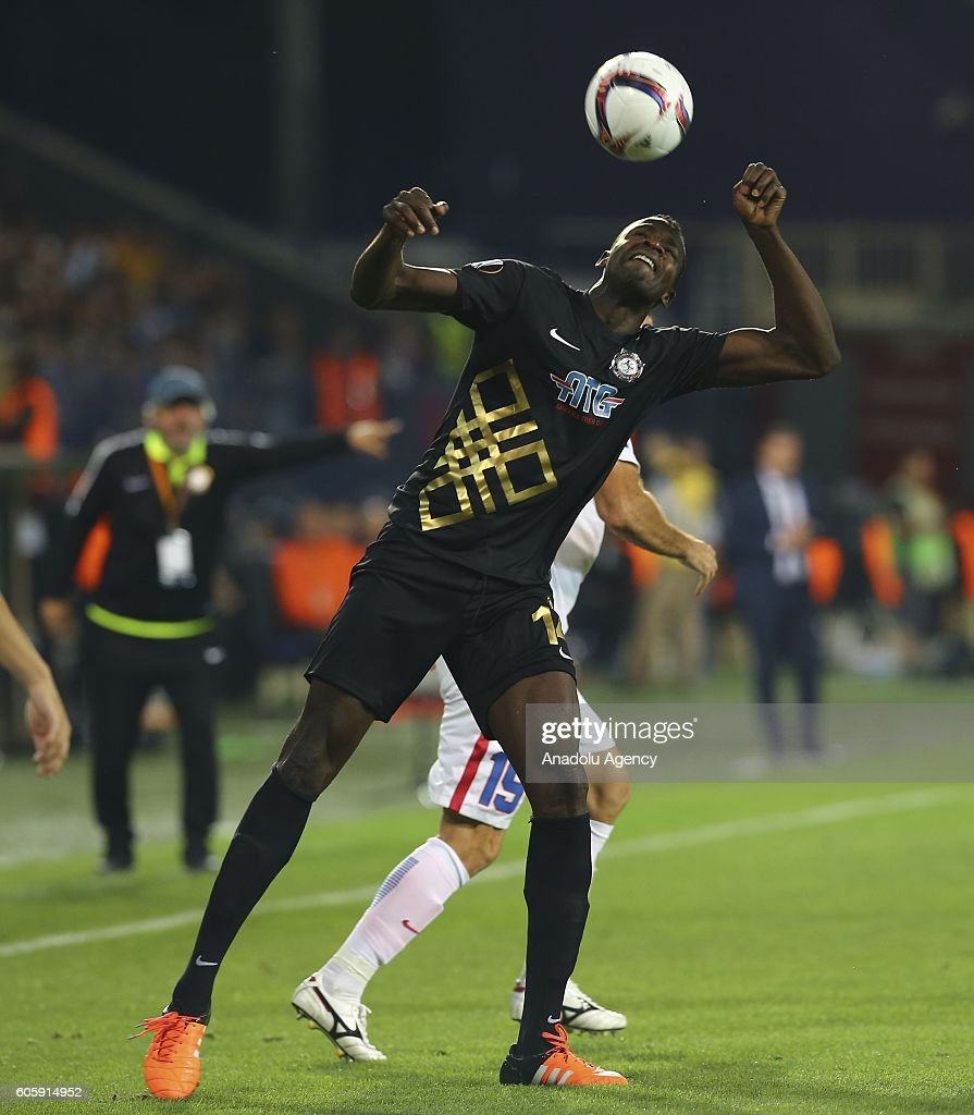 Diabate of Osmanlispor (17) is in action during the UEFA Europa League Group L match between Osmanlispor and FC Steaua Bucuresti at Osmanli Stadium in Ankara, Turkey on September 15, 2016.