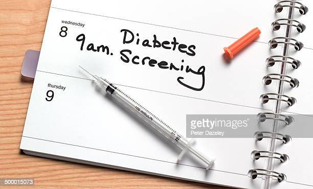 Diabetes screening in diary