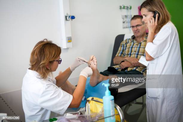 Diabetic feet consultations Savoie France specialized team devoted to treatment and aftercare for diabetic patients foot lesions The chiropodist...