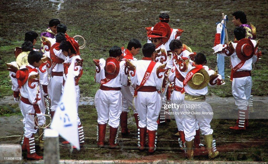 Diablada puneña festival in Puno, Peru : Foto de stock