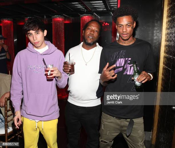 Diablo and Boonk attend Lil Pump's 17th Birthday Party at Ace Of Diamonds on August 17 2017 in West Hollywood California