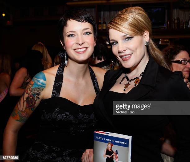 Diablo Cody and author Lily Burana attend Operation Bombshell a Burlesque Show and Benefit held at Trader Vic's At LA Live on May 15 2009 in Los...