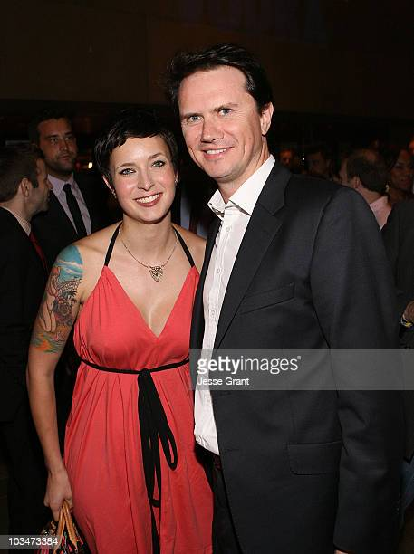 Diablo Cody and Fox Television's Peter Rice attend the after party for the Los Angeles premiere of Days Of Summer at the Egyptian Theatre on June 24...
