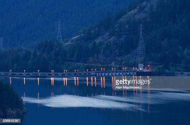 diablo dam, north cascades, washington - diablo lake stock photos and pictures