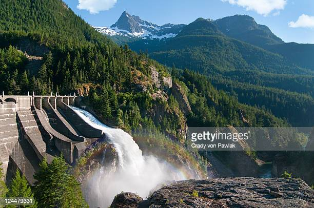 diablo dam - hydroelectric power stock pictures, royalty-free photos & images