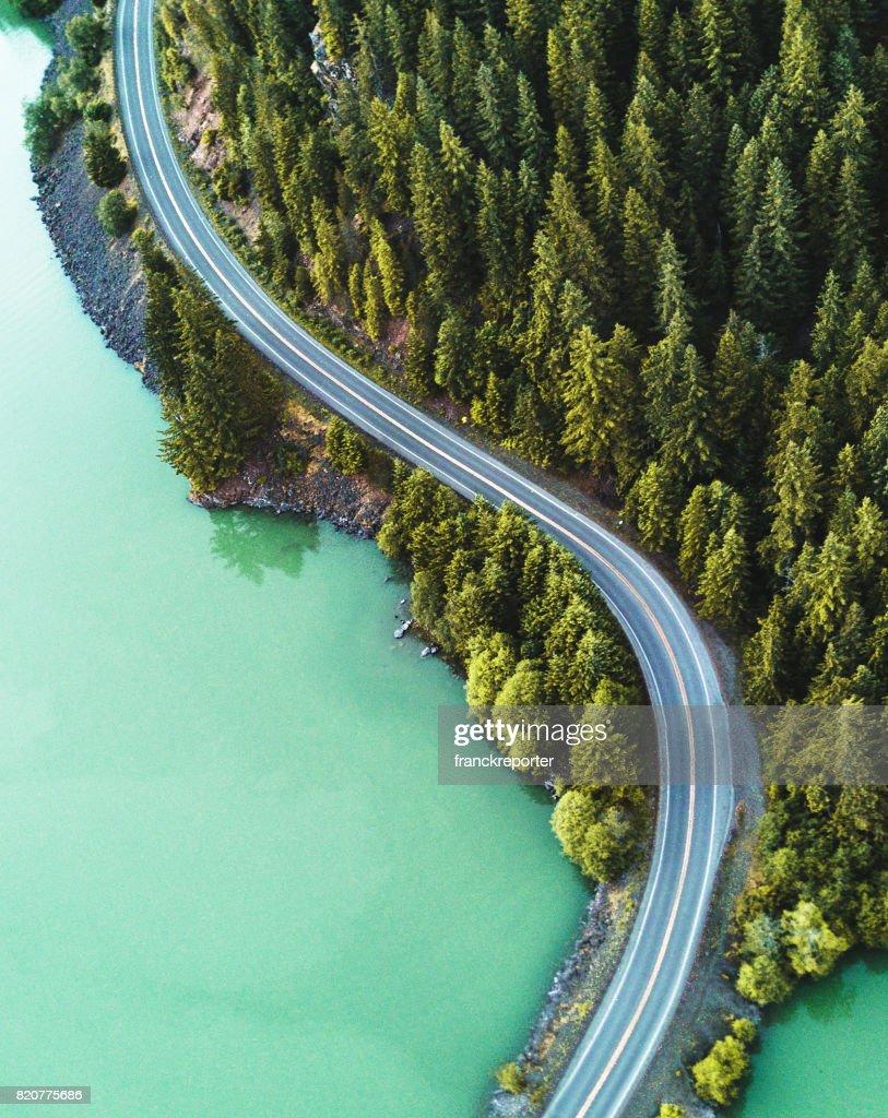 Vista aérea do Lago Diablo : Foto de stock