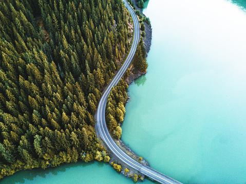 diablo lake aerial view 820775768