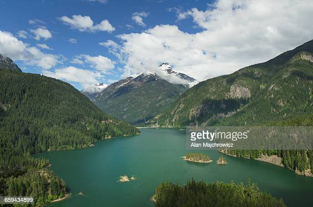 diablo lake, north cascades washington - diablo lake imagens e fotografias de stock