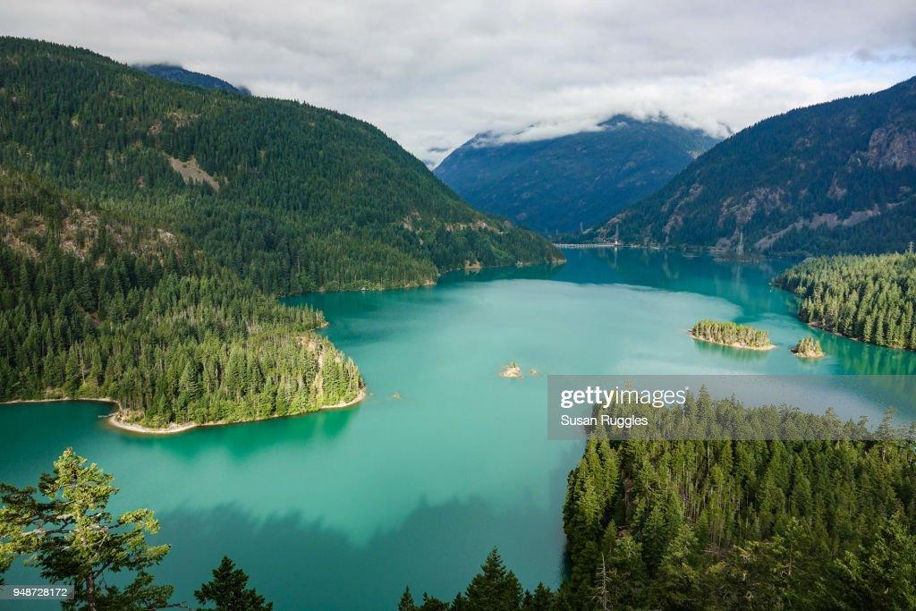 Diablo Lake Overlook : Stock Photo