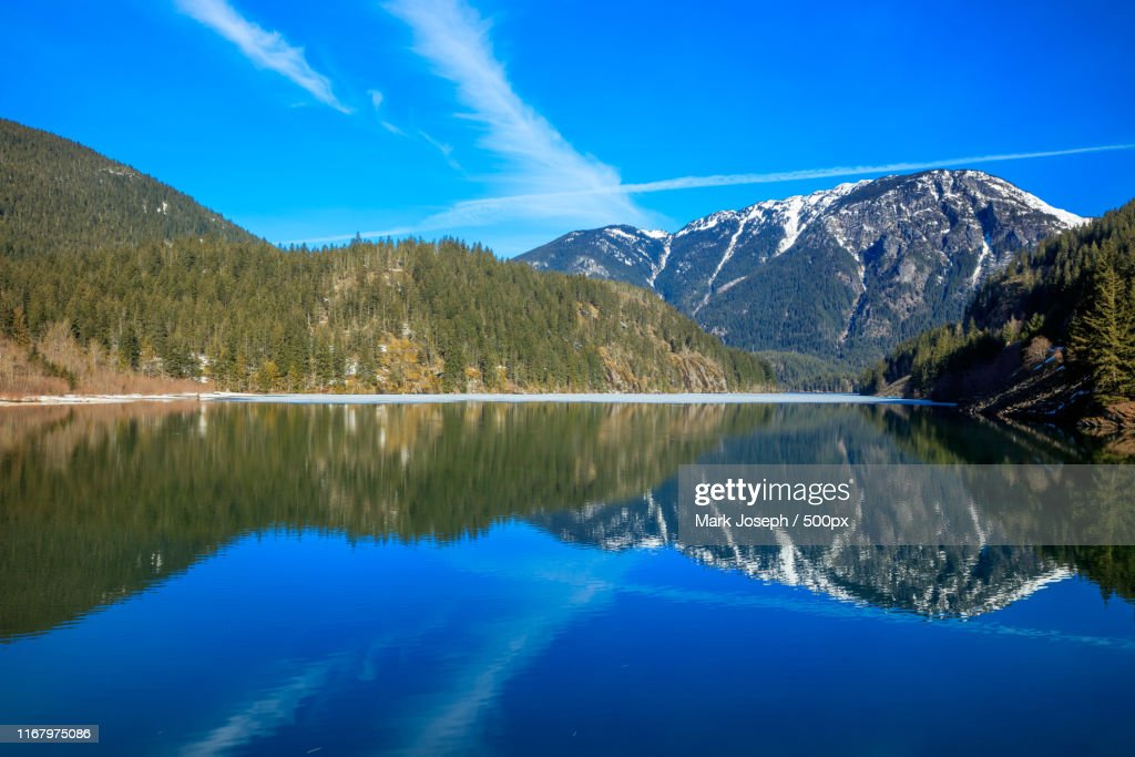 Diablo Lake Reflection : Foto de stock