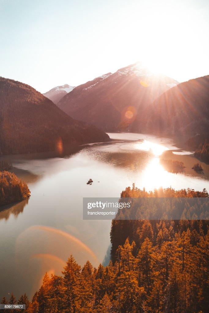 diablo lake view : Stock Photo