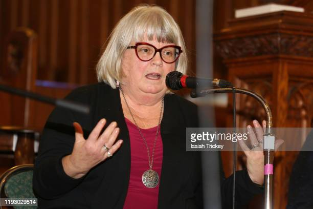 Diaconal minister Martha Martin attends Listen and Learn at Kingston Road United Church on December 8, 2019 in Toronto, Canada.