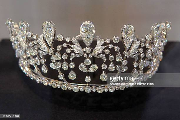 Diadem from the House of Chaumetduring LVMH Les Journees Particulieres on October 15 2011 in Paris France