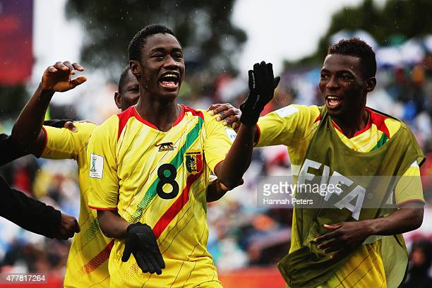Diadie Samassekou of Mali celebrates after scoring a goal during the FIFA U20 World Cup Third Place Playoff match between Senegal and Mali at North...